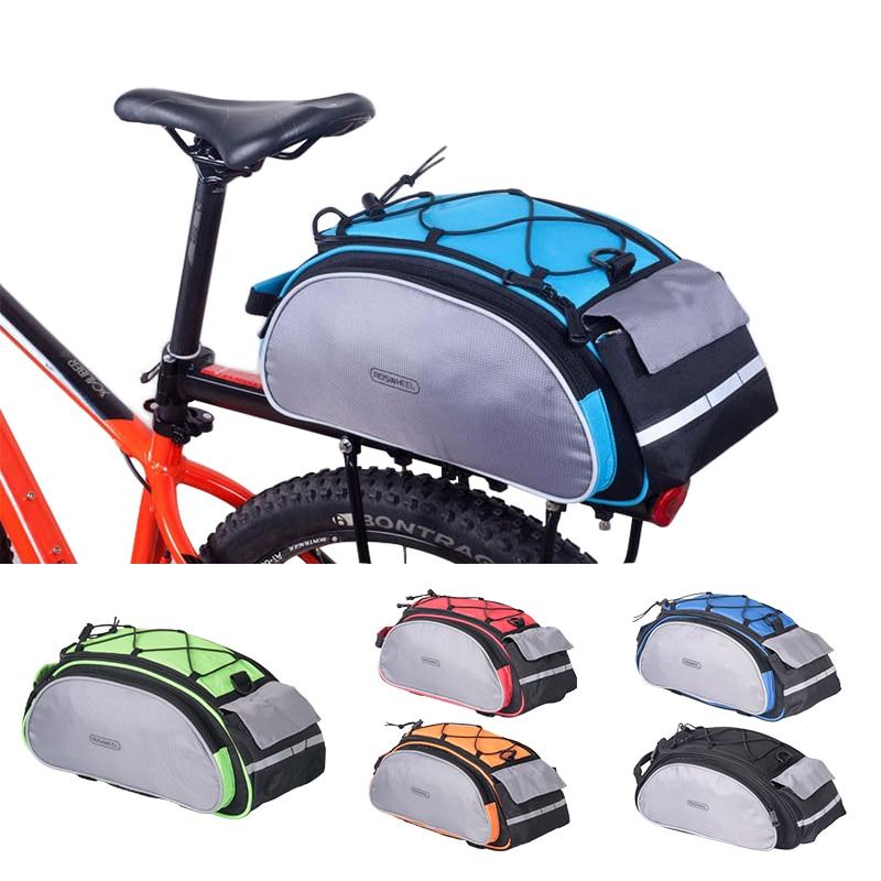 ROSWHEEL Bicycle 13L Carrier Bag Bike Rack Pannier Trunk Basket Back Seat Shelf Pouch Cycling Luggage Shoulder Handbag 14541