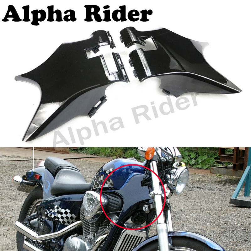 ФОТО Motorcycle ABS Plastic Neck Cover Cowl Wire Covers Side Frame Guard Black for Honda Shadow VT600 VLX 600 STEED 400 1988-1998
