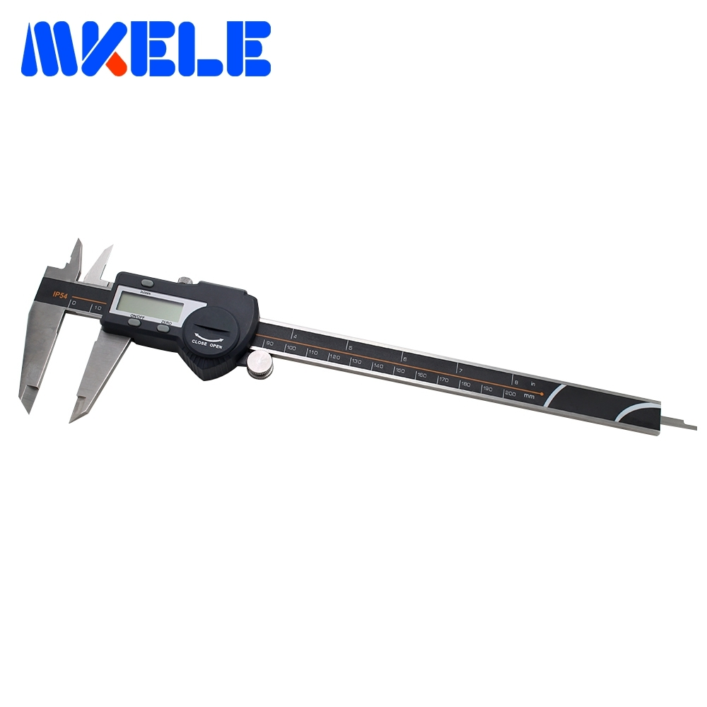 0-200mm IP54 Waterproof Digital High-Accuracy Vernier Caliper Micrometer Digital Stainless Steel Electronic Ruler 2018 New 0 300mm high accuracy digital electronic vernier caliper lcd micrometer digital caliper stainless steel ip54 waterproof
