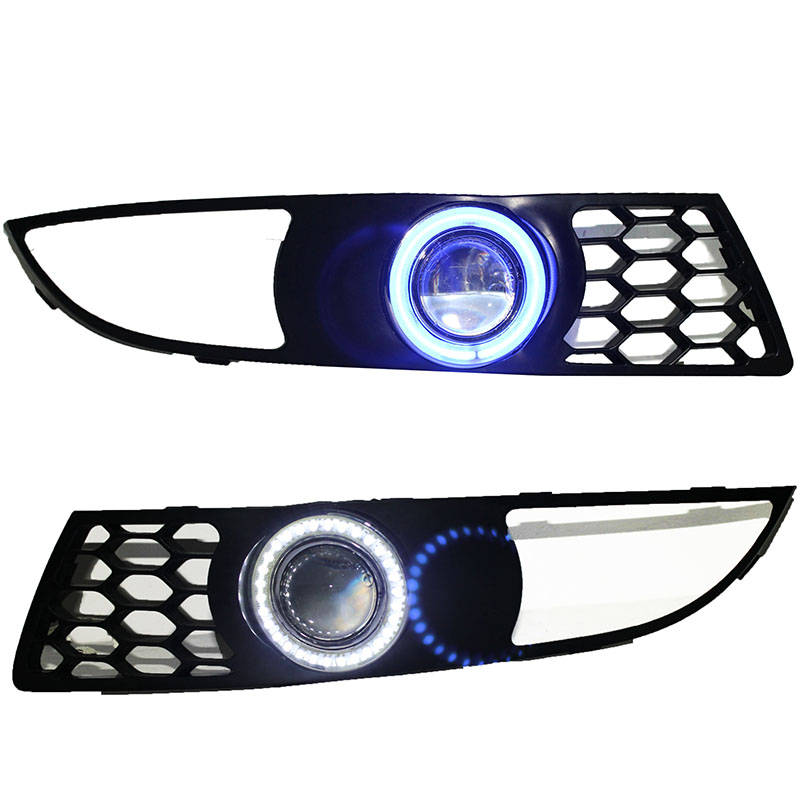 For Chery M11 A3 2008- 3-in-1 White Angel Eyes DRL Yellow Signal Light H11 Halogen / Xenon E13 Fog Lights Projector Lens