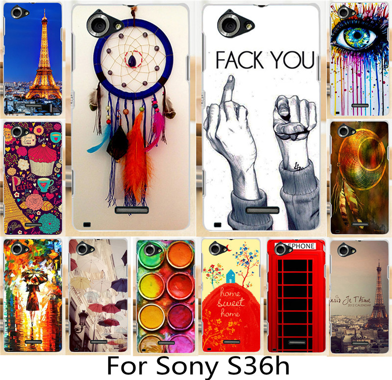 Classic Eiffel Tower Sweet Home Dream Girl eye Piece cell phone cass For Sony Xperia L S36H C2105 C2104 Cases Shell Cover Hood