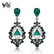 VEYO Rhinestone Crystal Earrings For Woman Drop Earrings Vintage brincos Pendientes High Quality