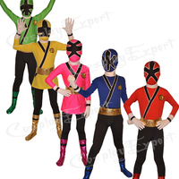 Free Shipping DHL Cheap Wholesale 5 Colors Kids Full Body Superhero Lycra Zentai Costumes Halloween Costume DG110