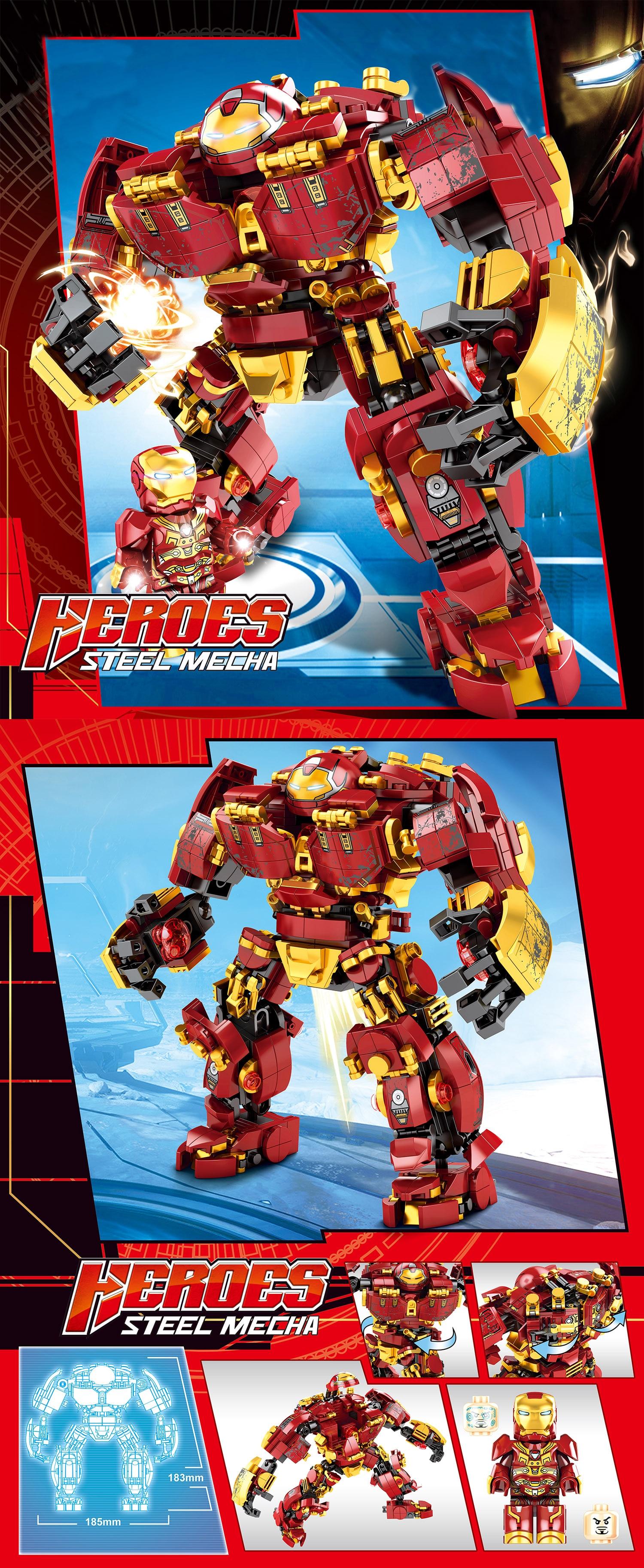 Image 4 - Marvel строительные блоки Железный человек халкбастер военная машина Супер Герои Мстители бесконечные войны детские игрушки подарки 2 типаБлочные конструкторы   -