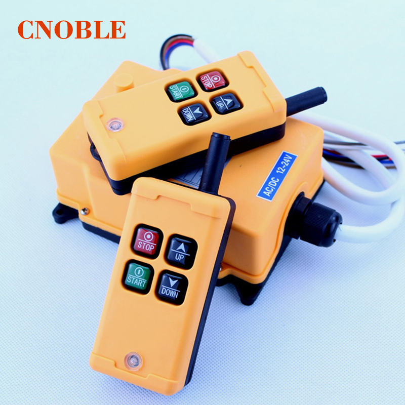HS-4 Industrial Remote Control Switch 4 keys 1 receiver+ 2 transmitter DC 24V 24VDC 1pcs hs 4 ac110v 4 keys control industrial remote controller 2 transmitter 1 receiver