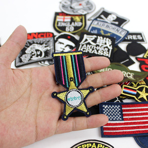 Image 3 - 30pcs /lot Punker clothes Patches Embroidery Badges hot iron on for men boys Jeans jacket Motorcycle Stickers