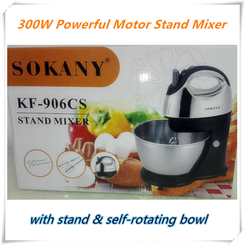 Table Electric Food Mixer Handheld Egg Beater For Baking Hand Mixer with Bowl Automatic Kitchen Baking Tools Stand doughmaker