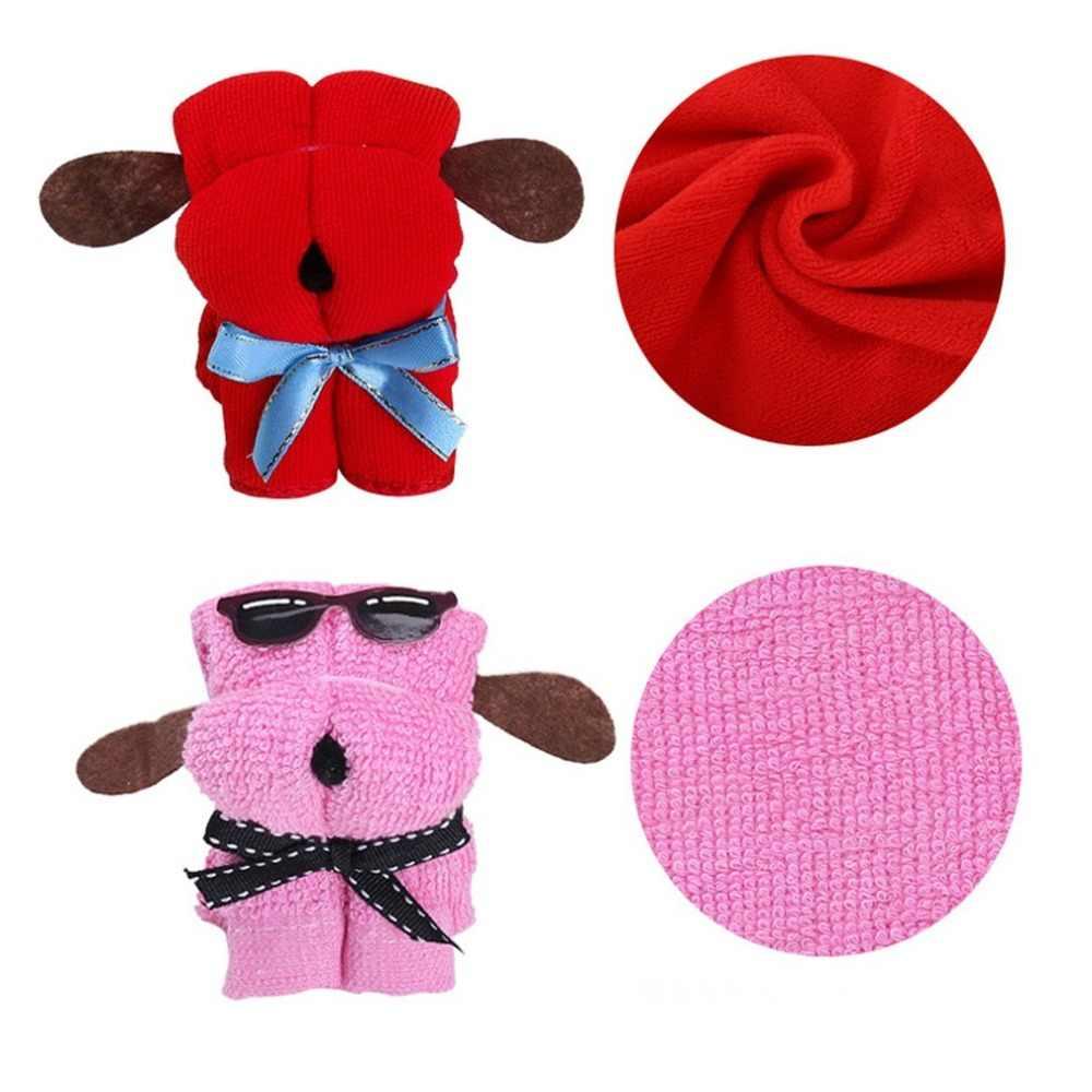 فريد جميل لطيف الكلب شكل ستوكات منشفة قطن خاص منشفة الزفاف Persent هدايا عيد الميلاد لون عشوائي