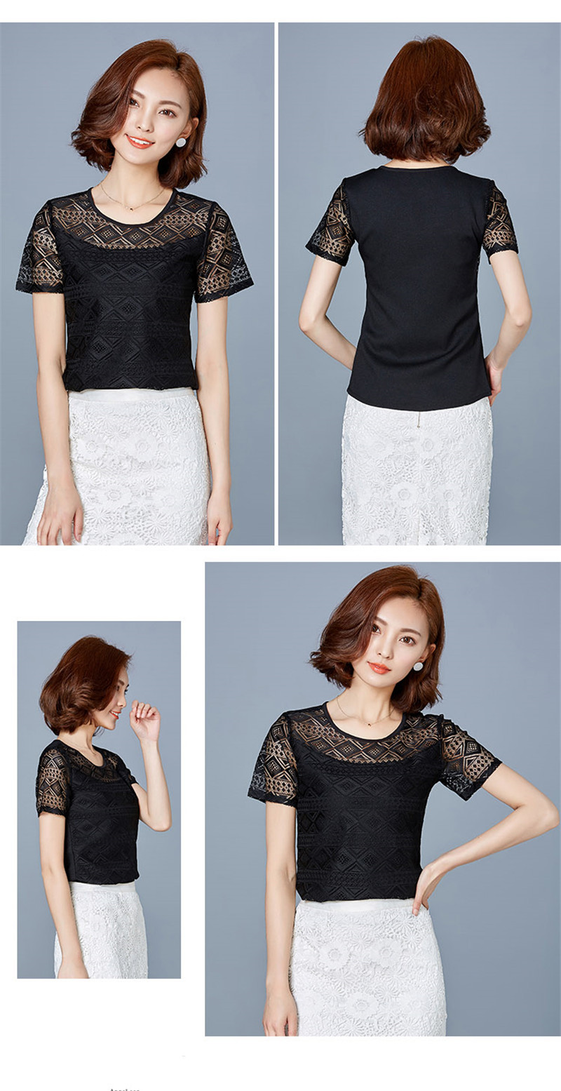 HTB1lyoEPpXXXXaDapXXq6xXFXXXO - New women tops lace chiffon blouse korean office female clothing
