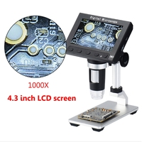 1000X USB 4.3 HD LCD 5MP Digital Microscope Video Magnifying Camera w LED light