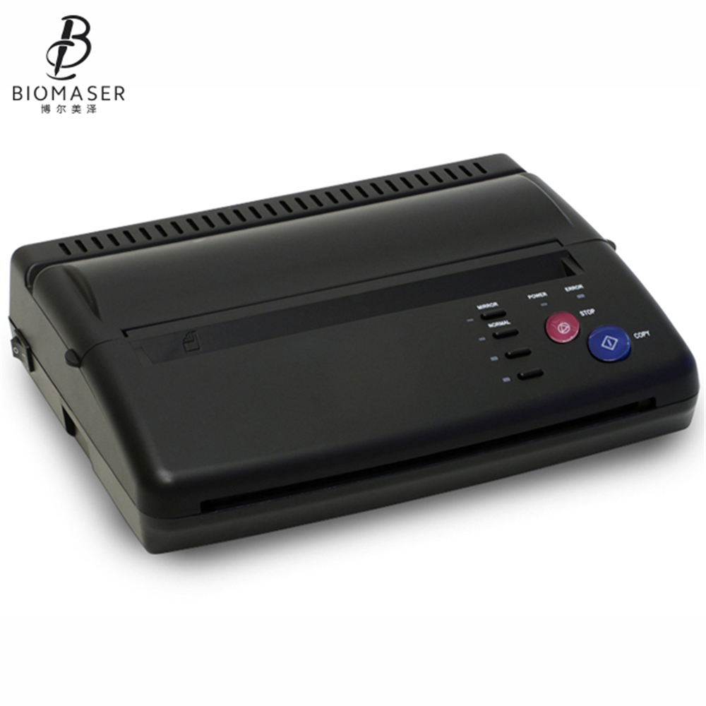 Biomaser DHL Tattoo Printer Tattoo Transfer Machine Drawing Thermal Stencil Maker Copier For Tattoo Transfer Paper Carbon Papier solong tattoo top quality tattoo stencil transfer machine thermal copier maker for transfer papers 20 pcs transfer paper t102
