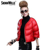 2015 Fashion High Quality Down Coat Female Short Design Slim Outerwear Autumn And Winter Thickening Thin