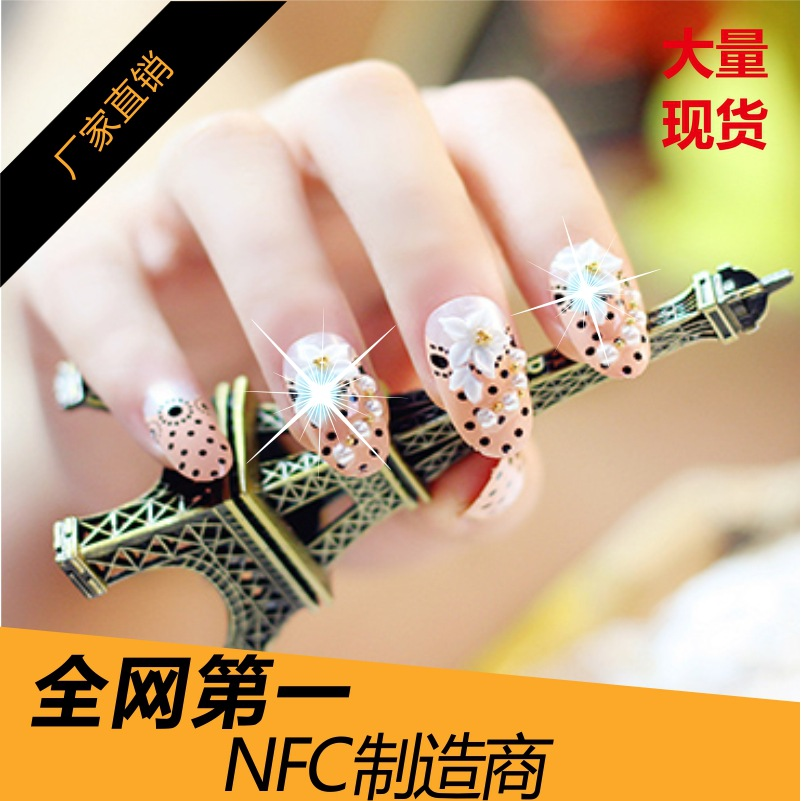 ISO14443A 13.56MHz NTAG213 NFC Nail sticker with LED 100pcs/lots-in ...