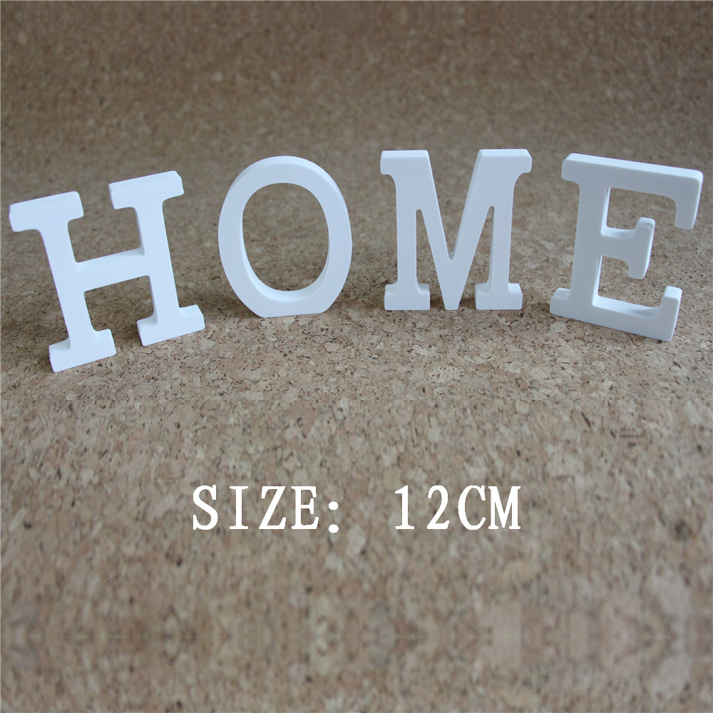 Height 12cm of Home Decor Wedding Decorations artificial Wood Wooden White Letters Alphabet for Birthday party Gifts
