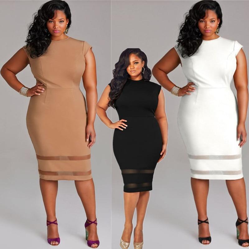 9546bab6e31ca المرأة شبكة أكمام o مثير بأمتصاص xxxl زائد حجم فستان عارضة فساتين نادي  ثلاثة ألوان قصيرة
