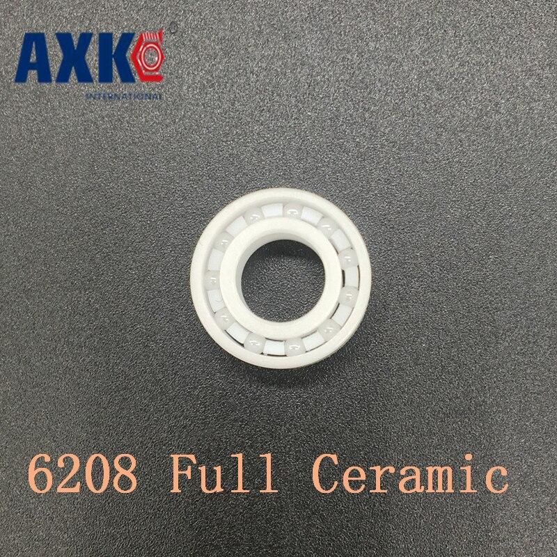 Axk 6208 Full Ceramic Bearing ( 1 Pc ) 40*80*18 Mm Zro2 Material 6208ce All Zirconia Ceramic Ball Bearings резистор jantzen 5w 2 70 ohm ceramic