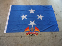 Federated States Of Micronesia National Flag 100 Polyster 120 180CM Anti UV Digital Printing Flag King