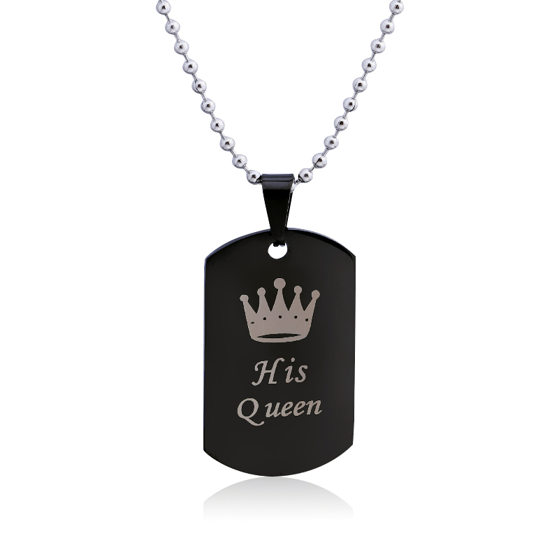 Qiyige original jewelry classic king queen necklace couple pendants qiyige original jewelry classic king queen necklace couple pendants necklace her king his queen crown titanium steel necklace in pendant necklaces from aloadofball Image collections