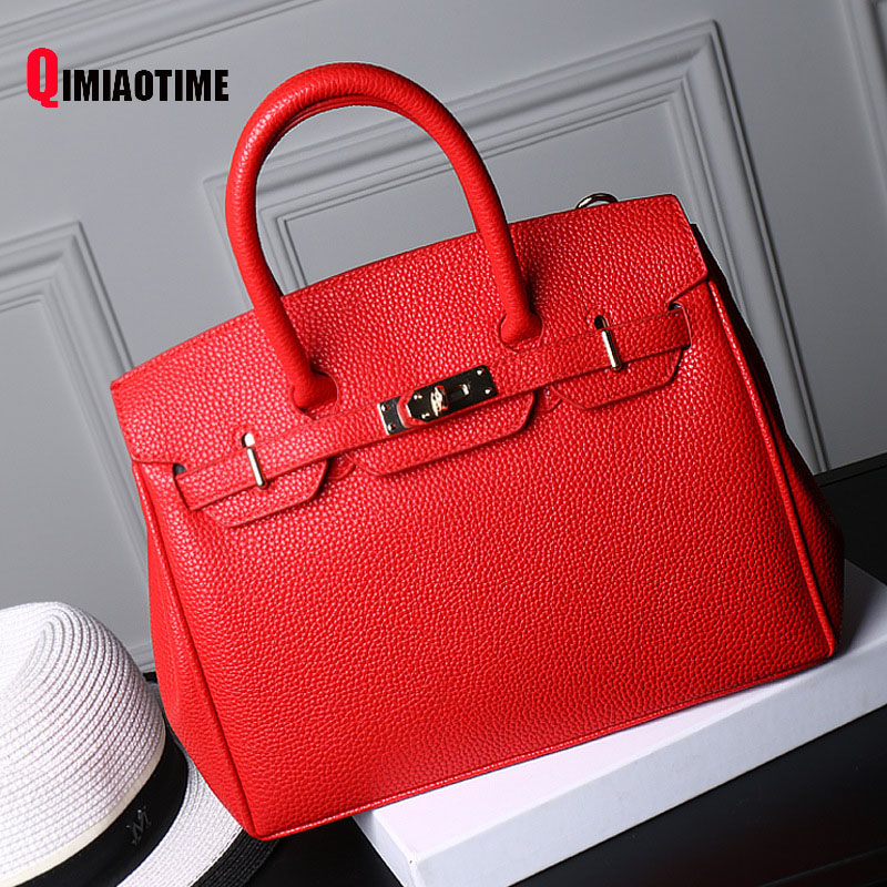 2018 New Luxury PU Platinum Bag Europe and The United States Fashion Handbag Litchi Pattern Shoulder Diagonal Bag Woman Bag 2017 new tide in europe and the united states fashion handbag handbag shoulder bag