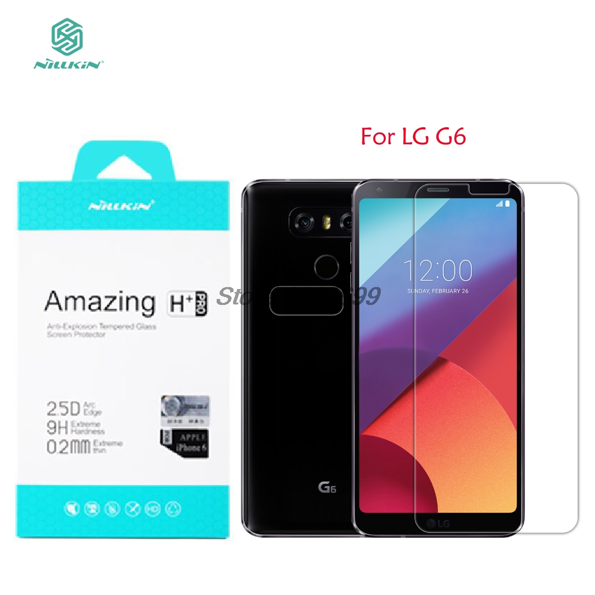 sFor LG G6 Tempered Glass Nillkin Amazing H+PRO Anti-Explosion Screen Protector For LG G6 With Original PackagingsFor LG G6 Tempered Glass Nillkin Amazing H+PRO Anti-Explosion Screen Protector For LG G6 With Original Packaging
