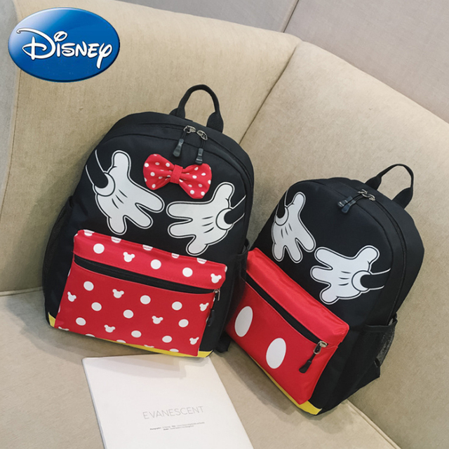 c0b988260a Disney Mickey Mouse Minnie Backpacks 2019 New Kids Girls Boys School-Bags  Cartoon Backpack Child Cute Kindergarten Book Bag Gift
