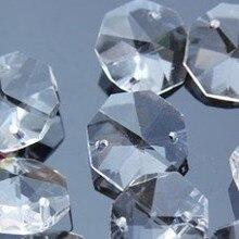 Горячая Распродажа! с 2000 шт./лот 14 мм Восьмиугольные кристаллы 2 отверстия, прозрачный цвет