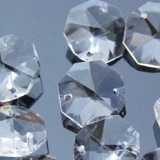 Image 1 - SıCAK SATıŞ!!! Ücretsiz kargo 2000 adet/grup 14mm kristal sekizgen boncuk 2 delikli, şeffaf renk