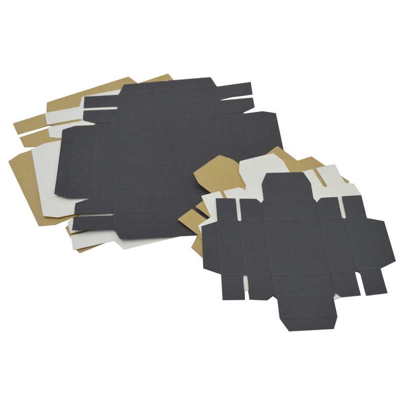 10pcs קרטון קופסא עם מכסה מותאם אישית לוגו מתנת קופסות גדול קרטון תיבת אריזה שחור קראפט לבן אריזת מתנה גדול Dropshipping