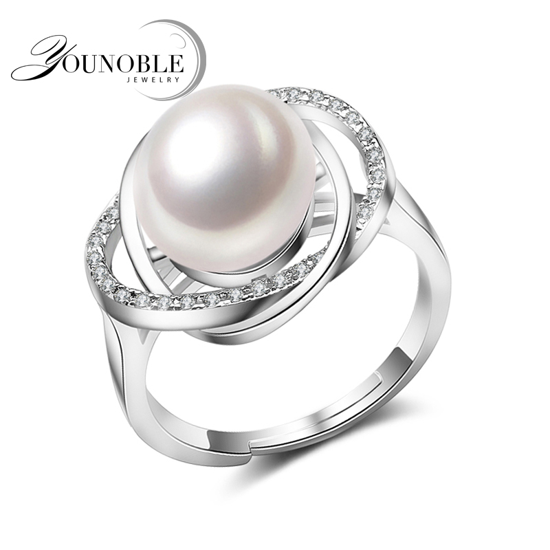907118b7e Real Ring Pearl Jewelry,natural Pearl rings for love,Freshwater Pearl 925  Silver ring,ruby silver rings for women gift box wholesale ring for rings  for ...
