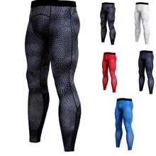 Quick-drying Pants Outdoor Mens 3D Printing Fitness Running Training Trousers Stretch Tight Spot