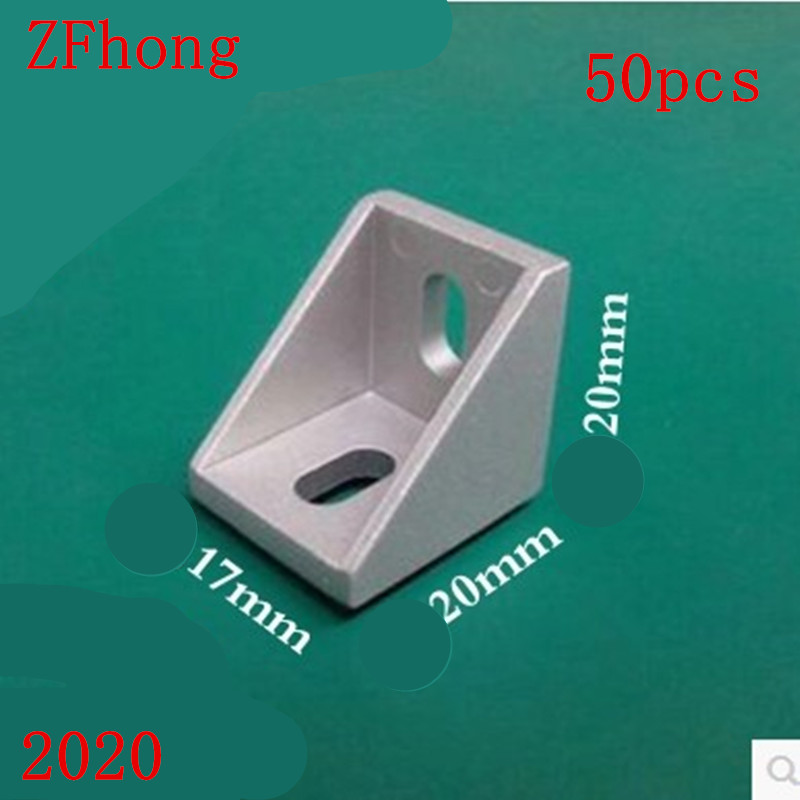 50PCS/LOT 2020 Corner Fitting Angle 20 x 17mm Decorative Brackets Aluminum Profile Accessories L Connector 50pcs lot vs1003b vs1003b l