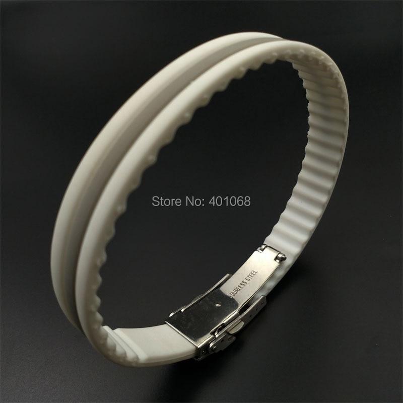 Adjustable anion titanium silicone bracelet power core ...