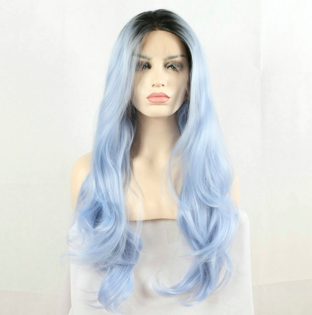 Light Blue Synthetic Wigs