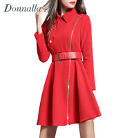 Women Coat 2016 New Design Elegant Ladies Long Sleeve Slim Wiast A Line Trench Coats Fashion
