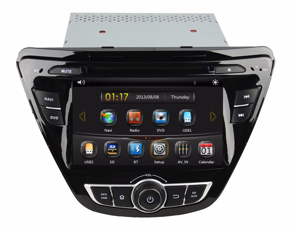 HD 2 din 7 inch Car DVD GPS Navigation HYUNDAI Elantra 2014 Bluetooth IPOD TV USB SWC Radio /RDS AUX IN - Cool Auto AV store