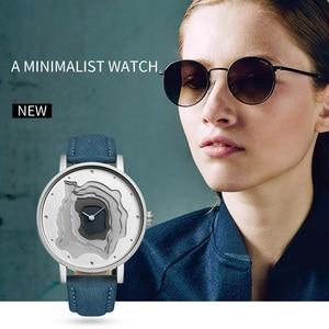 Image 5 - STARKING Brand Retro Vintage Type WristWatch Blue Leather High Quality Earth Conception Simplicity Watch Quartz Relogio Feminino