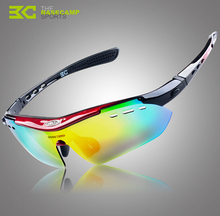 BaseCamp Cycling Eyewear Outdoor Sports Windproof Bicycle Glasses UV400 Polarized Bike Riding Cycling Sunglasses With 5 Lens
