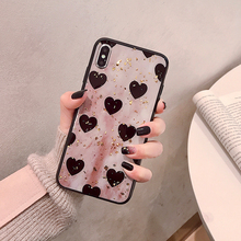 VZD  intage gold foil love for iphoen x/xs mobile phone case 8plus XSmax/xr tide female iphone7/6s
