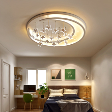 Buy ceiling lights for girls bedroom and get free shipping on childrens room led ceiling light romantic girl princess star moon living room mozeypictures Image collections