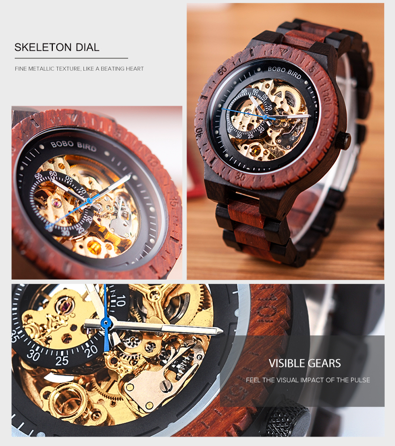 HTB1lyqUVQzoK1RjSZFlq6yi4VXa7 Personalized Customiz Watch Men BOBO BIRD Wood Automatic Watches Relogio Masculino OEM Anniversary Gifts for Him Free Engraving