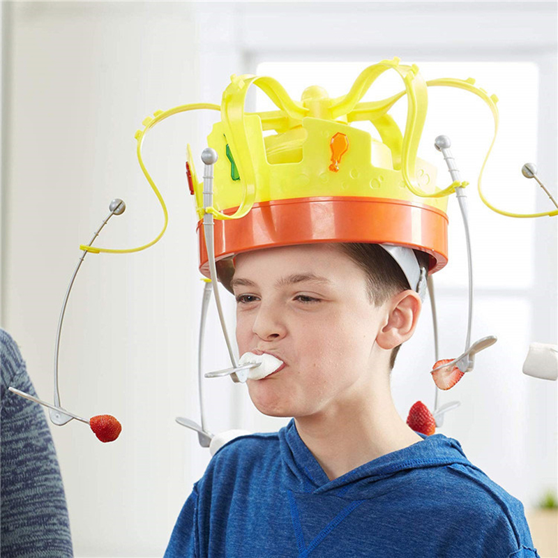 Novelty Toys For Children Rotating Crown Hat Chow Game Toys Spinning Crown Snacks Food Party Play With Friends Funny Gifts