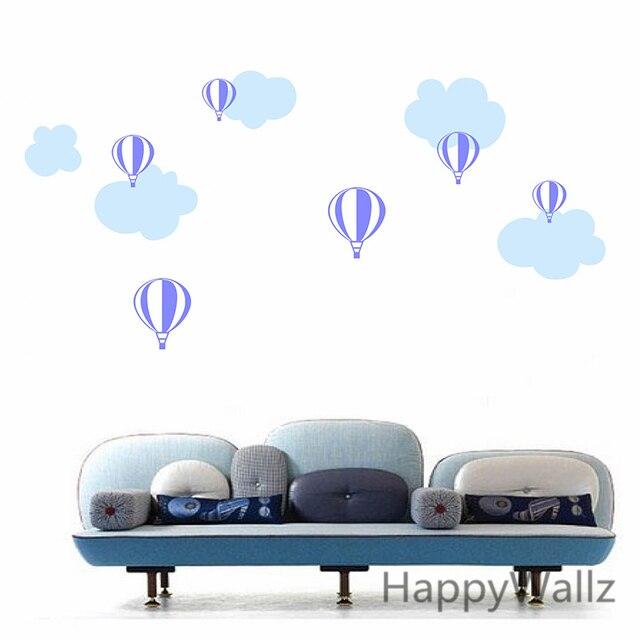 Adesivos De Caminhao Qualificados ~ Bal u00e3o de ar quente adesivos de parede nuvens bal u00e3o decalques diy adesivo de vinil da parede para
