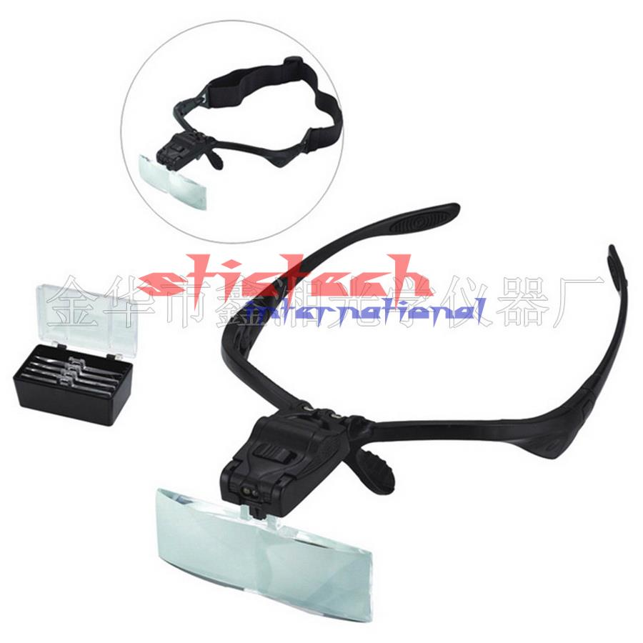 by dhl or ems 20pcs Headband Magnifying Glass Eye Repair Magnifier 2 LED Light 1 0