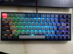 RGB Keycool 84 لوحة المفاتيح الميكانيكية لعبة لوحات المفاتيح مع gateron التبديل الخلفية لوحة مفاتيح صغيرة مدمجة keycool84