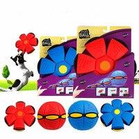 Zdeformowane Frisbee Frisbee Latający Spodek UFO Kid Toy Dall Zdeformowane Vent Piłka Wirowania DOPROWADZIŁY Światła Na Zewnątrz Zabawki Dzieci zabawki Plażowe