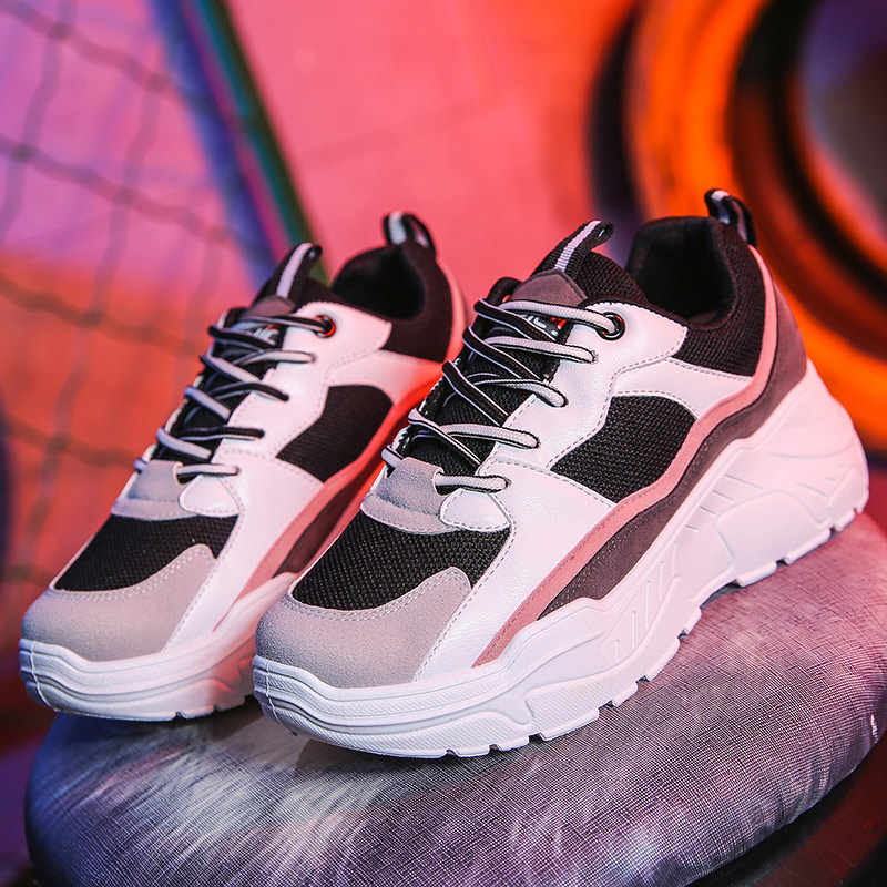 Chunky Sneakers Women 2019 Fashion Platform Shoes Basket Femme Vulcanize Shoes Womens Casual Krassovki Female Trainers Dad Shoes