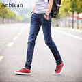 Anbican 2017 Spring Fashion Slim Jeans Men Full Length Straight Pockets Stretch Jeans Brand New Male Skinny Jeans Size 27-36