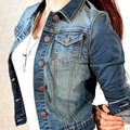 Dril de algodón del resorte mujeres de la chaqueta de abrigo corto de manga larga marca clothing outwear z10