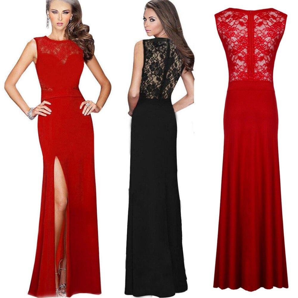 Sexy Frauen Lange Kleid Formale Lang Cut Partei, Figurbetontes Kleid ...