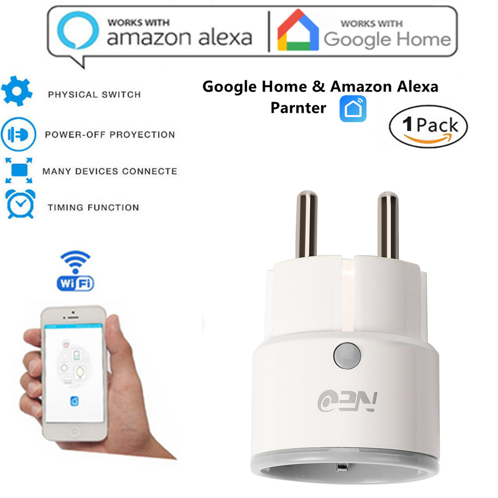 Epula Smart Socket Plug Smart Wifi Power Socket Uk Plug Switch For Google Home App Control Connected By Wifi Or Hot Spot 2000w Wide Selection; Consumer Electronics